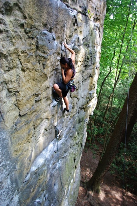 New River Gorge, my first sport climbing trip.