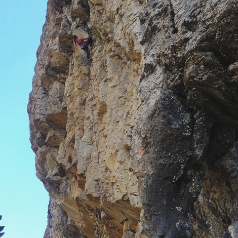 Redpointing my first 5.11a, Chicks Dig It.