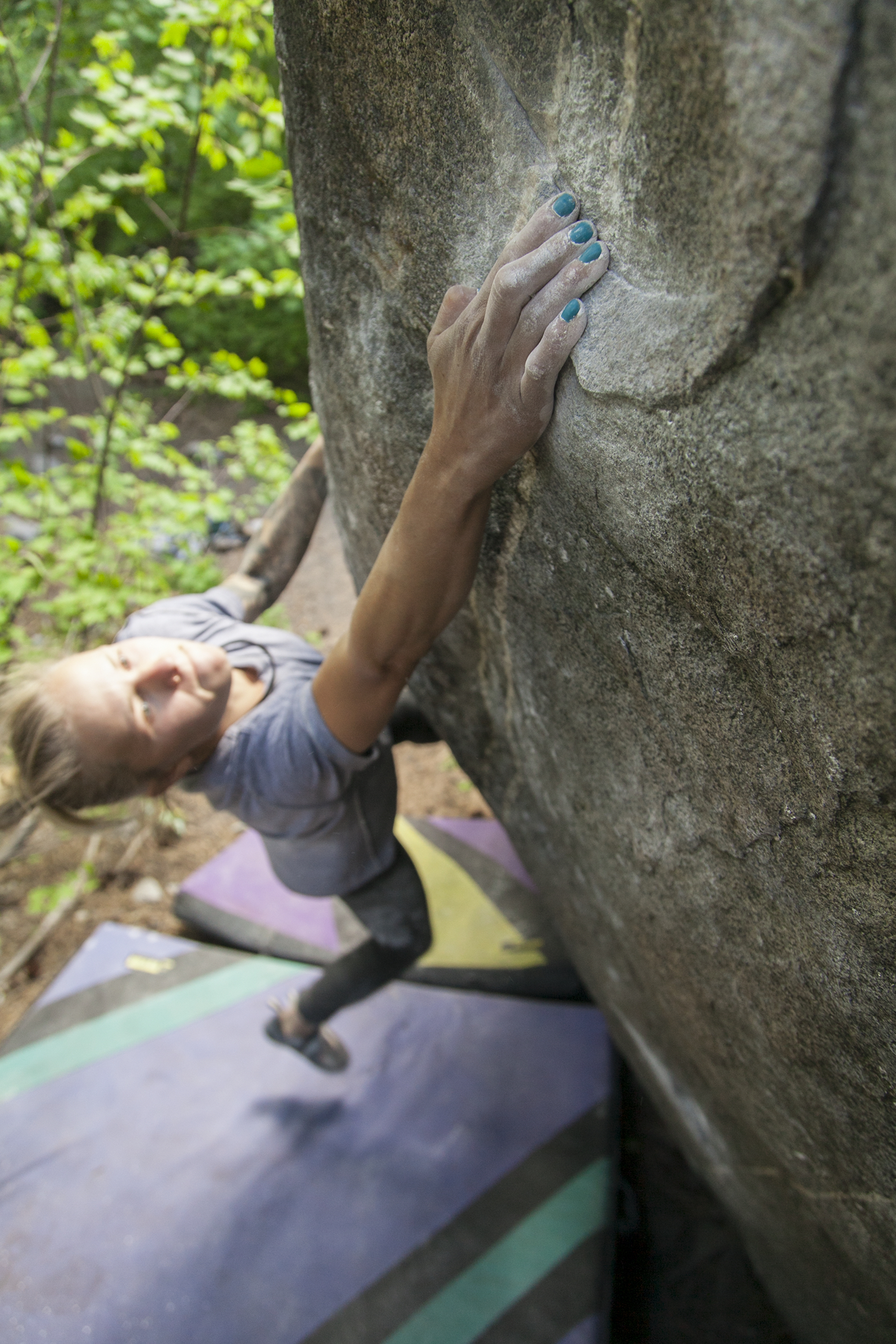 Nails looking fly on Cole's Corner (v8) in Leavenworth, WA. photo by Jeremy Bini.