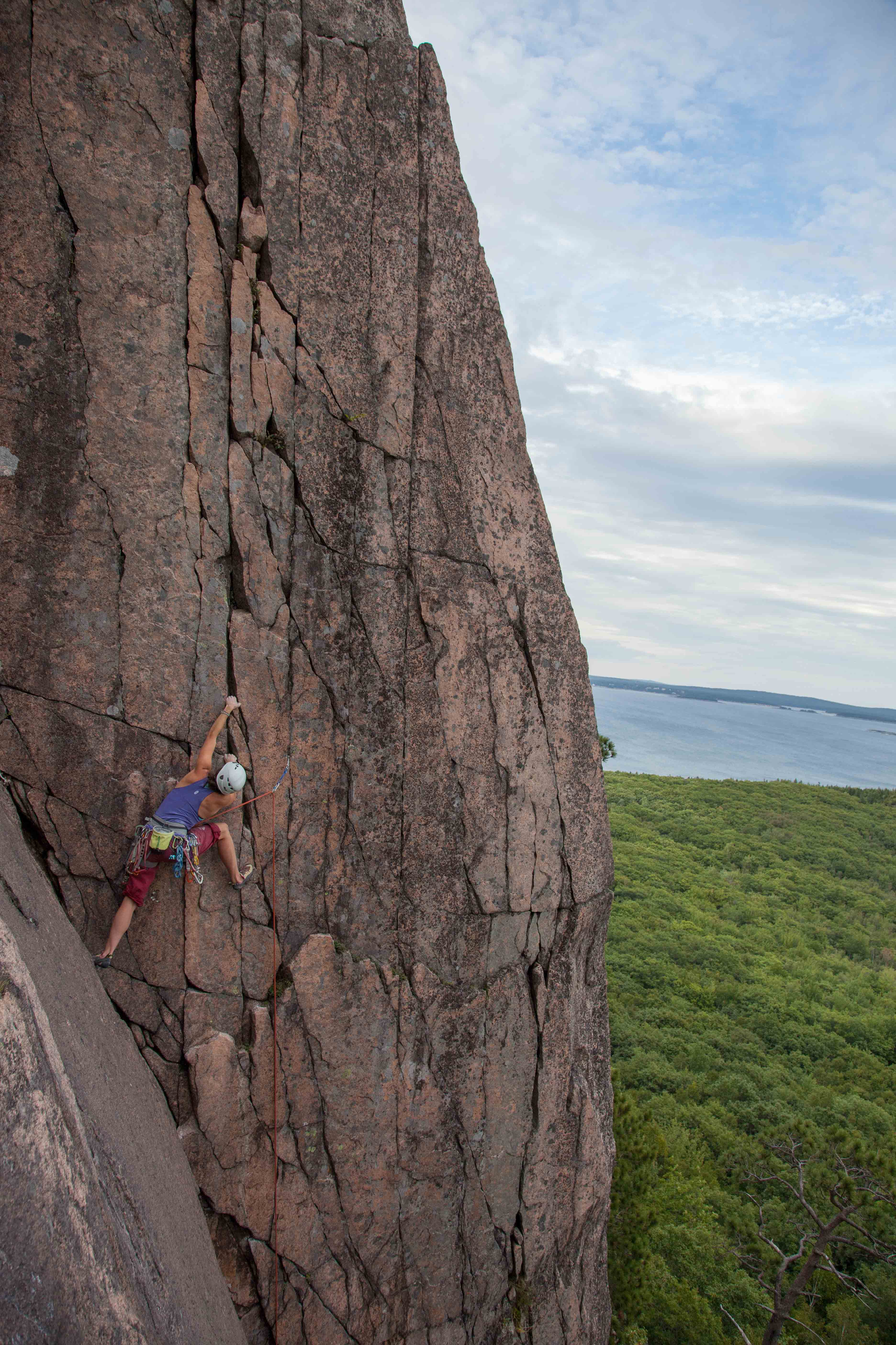 Doing laps on the Acadia ultra-classic, Green Mountain Breakdown (5.9+). photo by Sasha Turrentine.