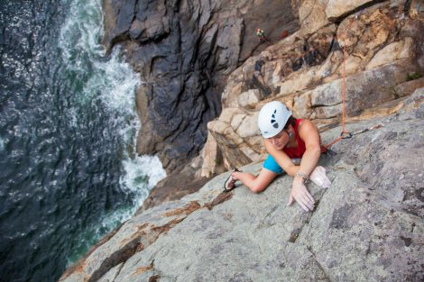 Taylor, will you do that move over again, Nystrom. Left Wall, Great Head, Acadia National Park. photo by Sasha Turrentine.